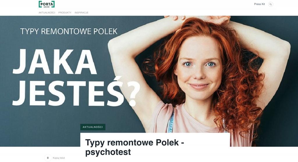 Typy remontowe Polek. Porta